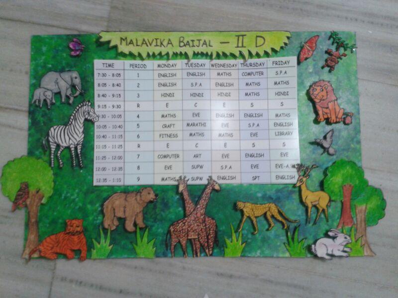 Timetable and charts for classrooms also mana   creative ideas rh manacreativesspot